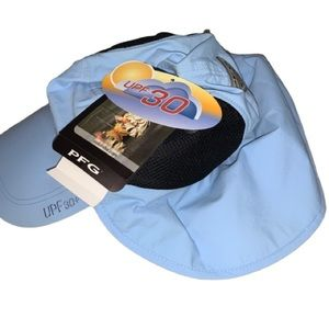 NWT Columbia PFG UPF30 Sun Shade Hat OSFM Blue